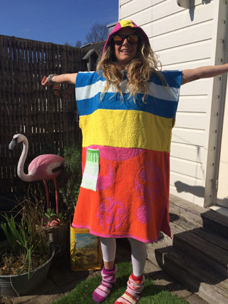 Poncho Flying Colors Verkocht