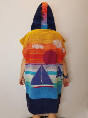 tropical paradise poncho achter